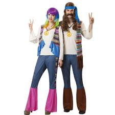 halloween disco costumes totally ghoul hippie women u0027s halloween costume size one size fits