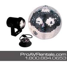 disco rental rent nyc disco rent mirror with pinspot light and motor