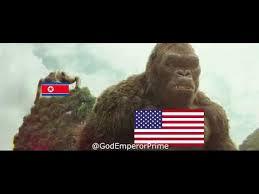 North Korea Memes - america vs north korea and the islamic state kong ww3 meme youtube