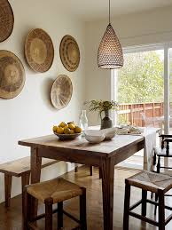 Dining Room Wall Decor Ideas Dining Room Model With Farmhouse Style Table Lighting Sets