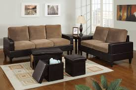 Bob Kona  Piece Livingroom Set In Saddle Tan Microfiber And - Microfiber living room sets
