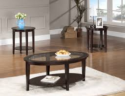 amazon com beverly furniture oval modern glass 3 piece coffee