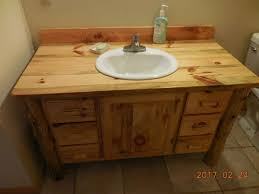 Pine Bathroom Furniture Made Knotty Pine Bathroom Vanity By Harry S Cabin Furniture