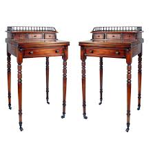 Secretary Style Desks Pair Of Regency Style Secretary Desk On Casters For Sale At 1stdibs