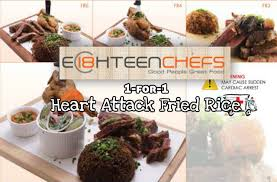 fr3 cuisine eighteen chefs 1 for 1 attack fried rice set meal at