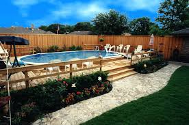 pool deck ideas concrete above ground pool deck plans attached to