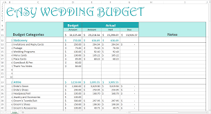 wedding budget spreadsheet papillon northwan