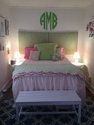 college house monogram room pink green lilly pulitzer dorm