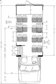 ameritrans 225 shuttle bus floorplans 15 16 passengers rear luggage