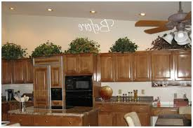 decorating above kitchen cabinets tuscan style nickel chrome