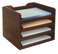 Wood Desk Drawer Organizer Darby Home Co Beaumys Stacking Wood Desk Organizers 4 Letter Tray