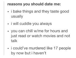 Reasons To Date Me Meme - reasons to date me