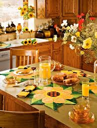 yellow kitchen theme ideas sunflower tablecloth for sunflower kitchen theme ideas