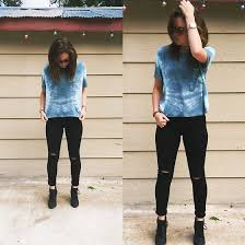Forever 21 Ripped Jeans Allex Looper American Eagle Outfitters Blue Tie Dye Shirt