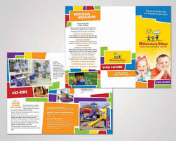 brochure templates for kids 14 daycare brochure templates free psd