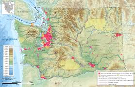 Map Of Washington by Map Of Washington Topographic Map French Worldofmaps Net