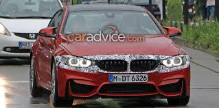 red bmw m4 2017 bmw m4 facelift spied again photos 1 of 8