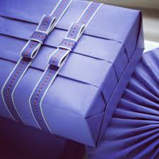 purple gift wrap my gift wrapping blogging your way homework week two