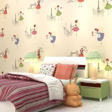 kids room wallpapers cartoon murals girls dancing cute princess