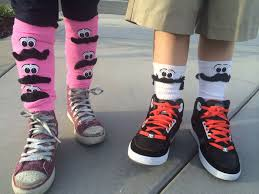 silly sock day some mustaches and printed eyeballs would be even