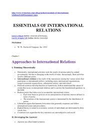 essential of international relations polarity international