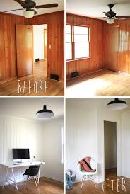 How Much To Paint Interior Trim Painted Wood Panelling Before And After Office Pinterest