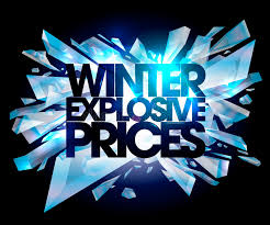 winter explosive prices stock vector illustration of