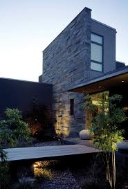 landscaping using stones exterior contemporary with gravel black
