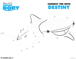 free finding dory connect the dots printable activities hispana