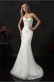 Strapless Wedding Dress Mermaid Strapless Sweetheart Tulle Lace Crystal Beaded Wedding Dress