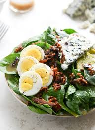 spinach salad with warm bacon dressing alton brown recipes