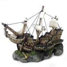 http www ebay itm sunken pirate ship fish tank ornament