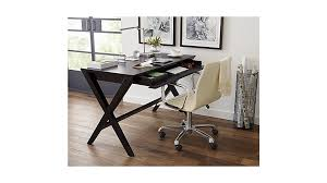 Leather Office Desk Ripple Ivory Leather Office Chair With Chrome Base In Office