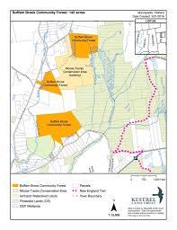 New England Area Map by Buffam Brook Forest Map Kestrel Land Trust