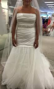 fit and flare wedding dress vera wang white fit and flare wedding dress 400 size 12 new