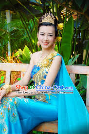 traditional thailand formal classic dress plus size clothing