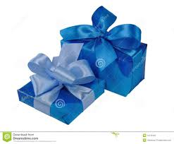 blue gift boxes with bows stock photos image 12719183