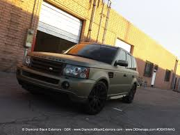 metallic land rover range rover sport hse wrapped in frozen green midnight sand matte