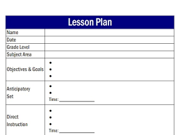 what is a lesson plan template lesson plan templates lesson