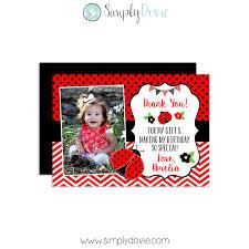 birthday thank you card ladybug birthday thank you card
