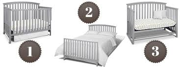 Convertible Cribs Reviews Graco Freeport 4 In 1 Convertible Crib Review Pebble Gray