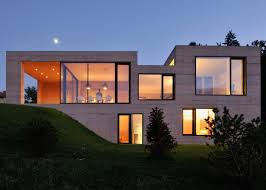 arhitektura krušec arranges house on golo to frame the alps