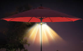 Patio Umbrella With Lights by Patio Mate Umbrella Light With Bluetooth Stereo Speakers Ion