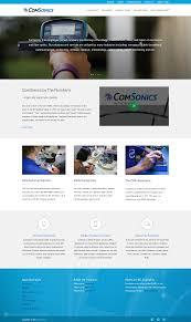 comsonics website redesign gravity group