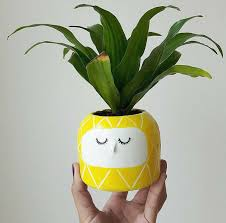 face planters cute sleepy ceramic cups and planters u2013 fubiz media