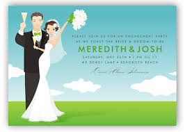 Bride To Groom Wedding Card Blue Sky Bride And Groom Invitation Polka Dot Design