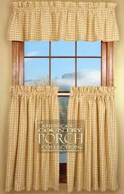 Country Porch Curtains Check Curtain Valances