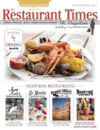 the restaurant times st augustine spring 2017 by publishing