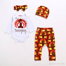 my 1st thanksgiving infant baby girl autumn sets infant toddlers my 1st