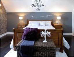 peinture murale grise chambre coucher le poser grand lit